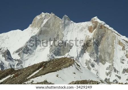 Mount Meru in  Himalayan - stock photo