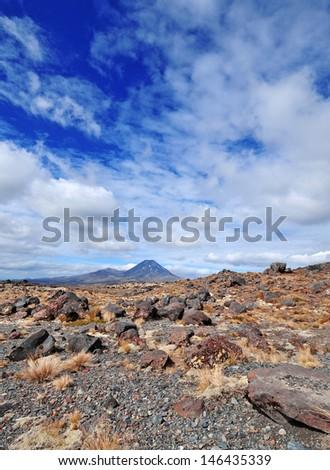 Mount Ngauruhoe, Tongariro Region, New Zealand - stock photo