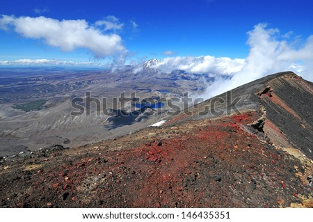 Mount Ngauruhoe, Tongariro Region, New Zealand - stock photo