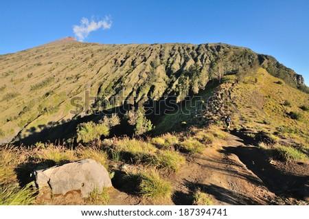 Mount of Rinjani, Lombok, Indonesia. - stock photo