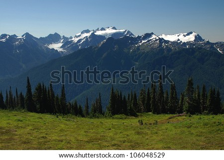 Mount Olympus, Olympic National Park, WA - stock photo