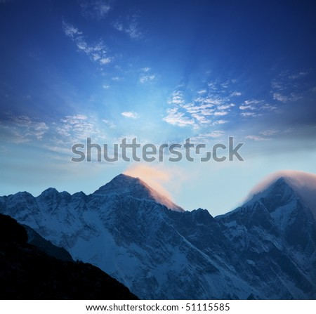 mount peak Everest - stock photo