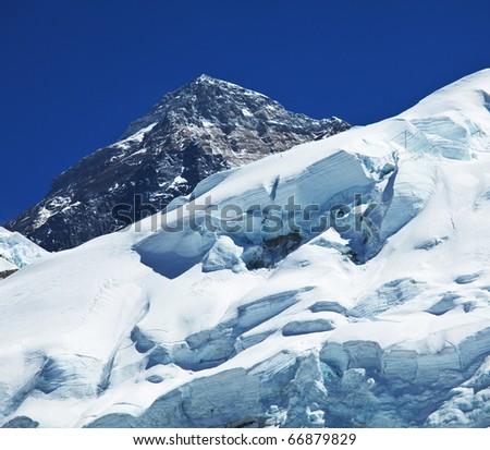 mount peak Everest - stock photo