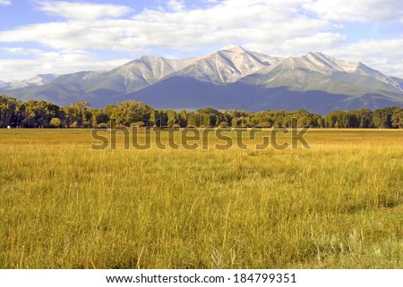 Mount Princeton, Collegiate Peaks in the Rocky Mountains, Colorado - stock photo