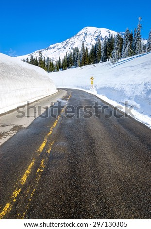 Mount Rainier National Park - stock photo