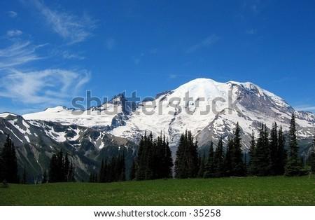 Mount Ranier - stock photo