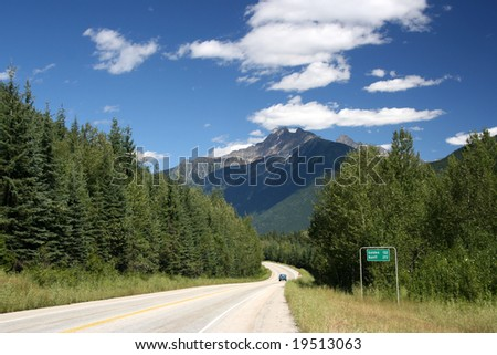 Mount Revelstoke National Park of Canada. Trans-Canada Highway.