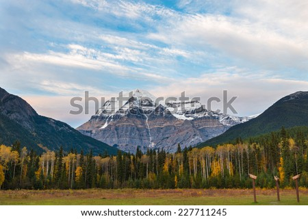 Mount Robson at sunset, British Columbia, Canada