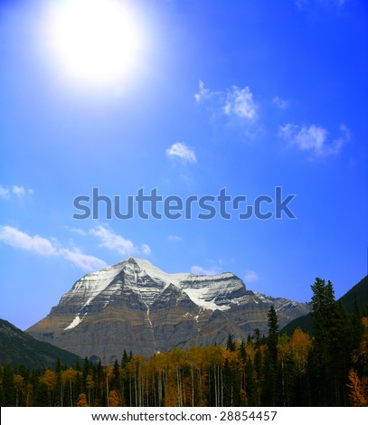 Mount Robson, Canada - stock photo