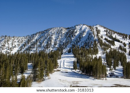 Mount Rose ski area, Nevada - stock photo