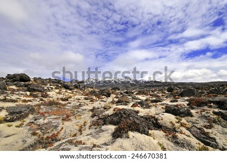 Mount Ruapehu, North Island, New Zealand - stock photo