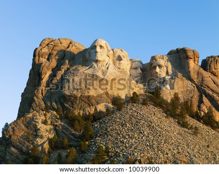 Mount Rushmore National Memorial. - stock photo