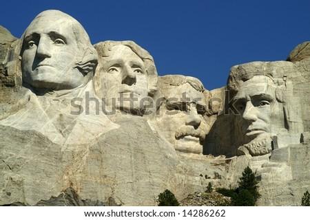 Mount Rushmore National Memorial, South Dakota, USA - stock photo