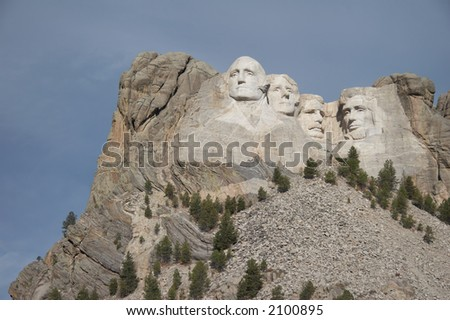 mount rushmore national memorial - Stone Sculptures of George Washington, Thomas Jefferson, Theodore Roosevelt, and Abraham Lincoln - black hills, south dakota, USA