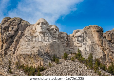 Mount Rushmore National Monument in South Dakota - stock photo