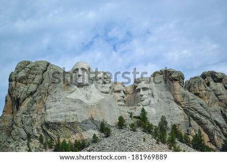 Mount Rushmore National Monument in South Dakota.  - stock photo