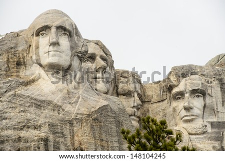 Mount Rushmore National Monument in South Dakota, USA.
