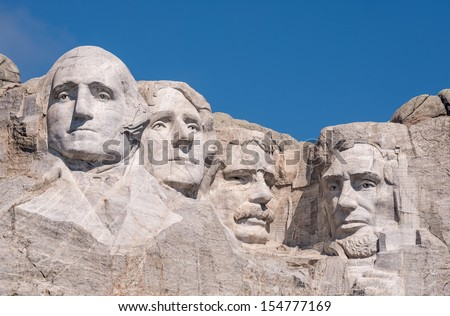 Mount Rushmore National Monument near Keystone, South Dakota - stock photo