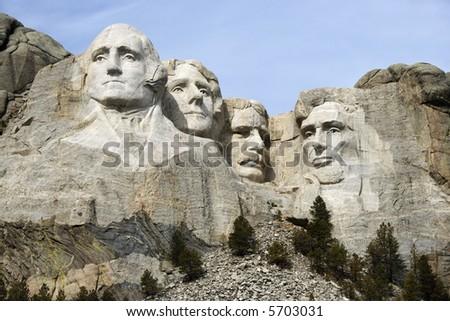 Mount Rushmore National Monument, South Dakota. - stock photo