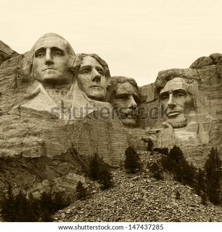 Mount Rushmore National Monument. South Dakota, USA.  - stock photo