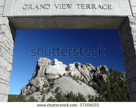 Mount Rushmore National Park Monument, South Dakota, U.S.A. - stock photo