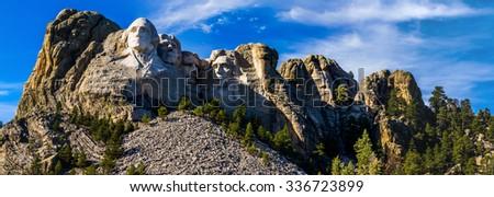 Mount Rushmore Panorama - stock photo