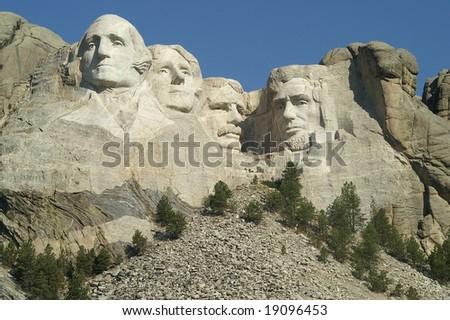 Mount Rushmore - the full view - stock photo