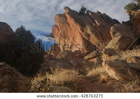 Mount Sanitas Trail Boulder Colorado - stock photo