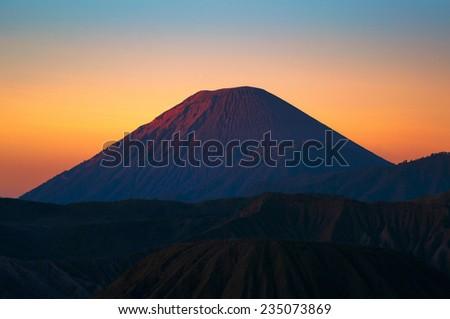 Mount Semeru volcanoes in Bromo Tengger Semeru National Park, East Java, Indonesia. - stock photo