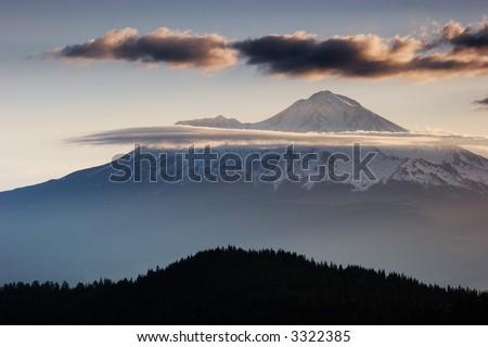 Mount Shasta - stock photo