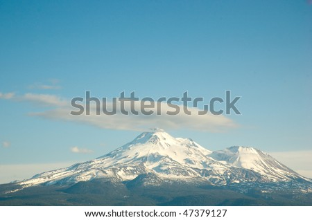 Mount Shasta peak
