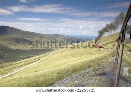 mount snowdon, wales, uk - stock photo