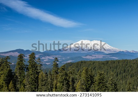 Mount St. Helen - stock photo