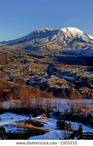 Mount St. Helens National monument - stock photo