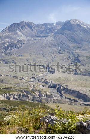 Mount St Helens September 2007 - stock photo