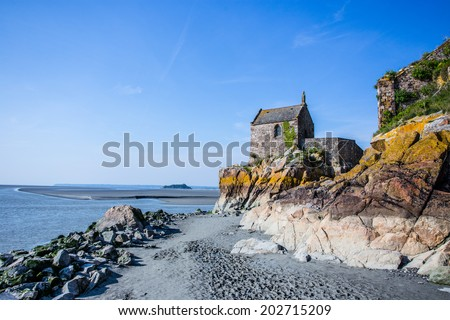 Mount St Michel France - stock photo