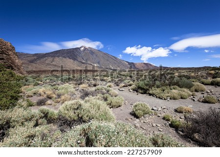 Mount Teide is a volcano on Tenerife in the Canary Islands