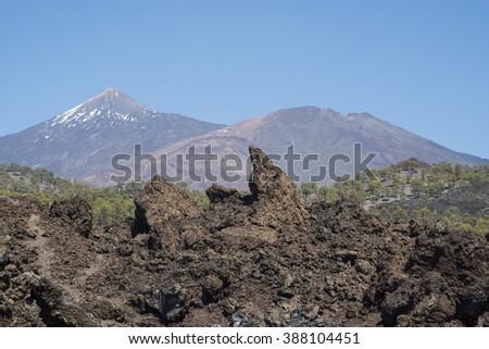 Mount Teide. Tenerife. Canary Islands. Spain. - stock photo
