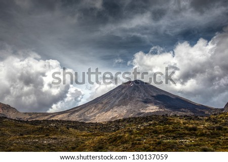 Mount Tongariro National Park - stock photo