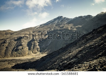 Mount Tongariro - Tongariro Crossing, New Zealand  - stock photo