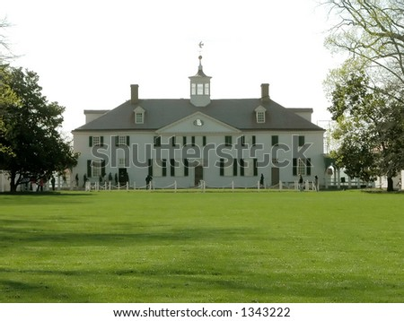 Mount Vernon, Virginia. George Washington's estate just outside of Washington D.C. - stock photo