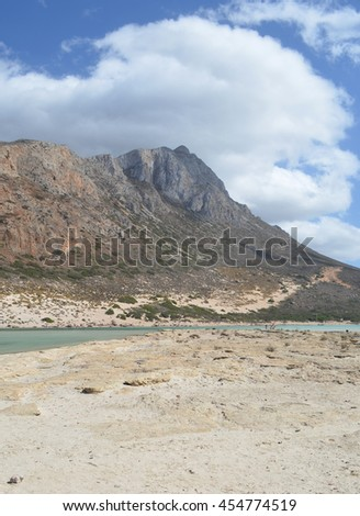 Mountain and Beach View at Balos, Crete