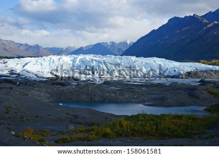 mountain and glacier in south alaska