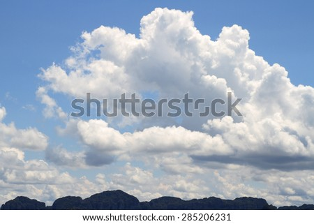 mountain and sky in thailand - stock photo