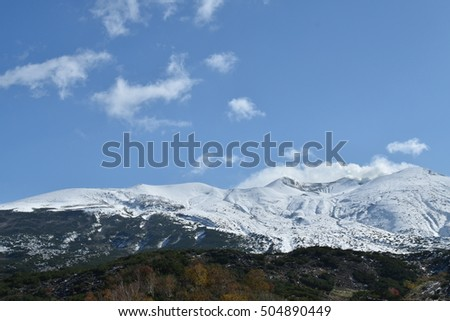 Mountain and snow