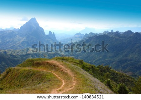 Mountain at Lao - stock photo