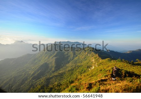 Mountain at north of Thailand - stock photo