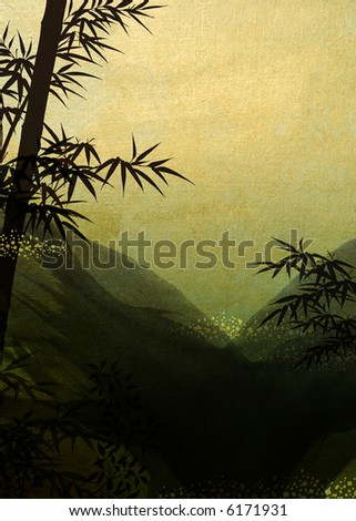 Mountain bamboo - stock photo