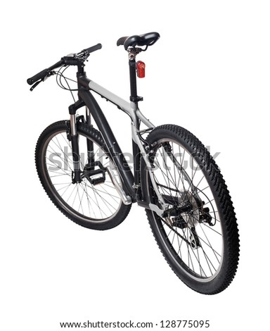 Mountain bicycle bike isolated on white background - stock photo