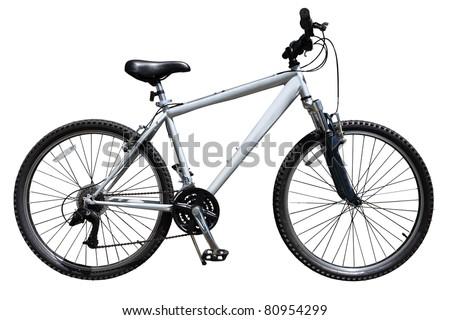 Mountain bicycle bike isolated on white background - stock photo